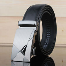 Luxury Mens Genuine Leather Belts Automatic Belt Buckle Waistband Waist Strap