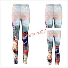Beauty and the Beast Leggings Digital Print Women's Fitness Yoga Pants Cosplay