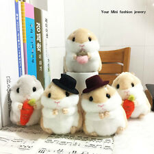 Hamster Squirrel Keyring Keychain Fluffy Fury Fleece Toy Charm Bag Pendant Decor