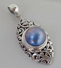 Mabe Pearl Bali Handcrafted Solid Silver, 925 Pendant 31822