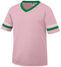 Augusta Men's Two Contrast Color Striped Short Sleeve V Neck Collar Jersey. 360A
