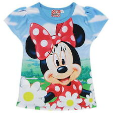 Girls Official Disney Minnie Mouse Short Sleeve T Shirt Top