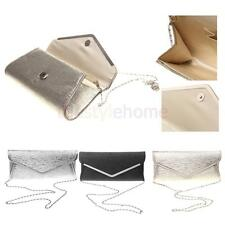 Women Shiny Handbag Party Evening Envelope Clutch Bag Shouder Bags With Chain