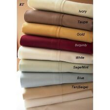 1000TC EGYPTIAN COTTON LUXURY BEDDING ITEMS FULL  SIZE SOLID/STRIPED COLOR
