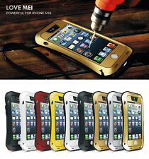 Water/Shock Proof Love Mei Gorilla Glass Aluminum Metal Case Cover For iPhone
