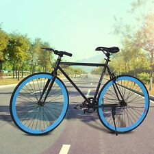 """26""""Road Bike Fixie Bike Bicycle Outdoor Sports Cycling Durable Steel Frame Top##"""