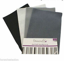 DOVECRAFT FELT A4 8 SHEETS PER PACK, 2 SHEETS of 4 COLOURS 8 SHADES
