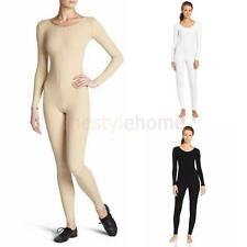 Soft Scoop Neckline Unitard Bodysuit Long Sleeve Womens Dancewear Costume