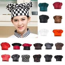 Baker Cap BBQ Hotel Cafe Cook Kitchen Uniform Elastic Master Chef Hat 18 Types