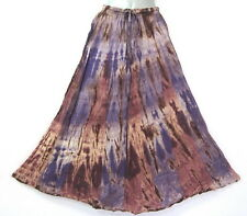 New Boho Peasant Gypsy Funky Summer Tie Dye Handmade Long Skirt Purple M L XL