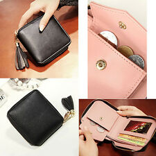 Womens Lady Leather Mini Wallet Card Holder Zip Coin Purse Clutch Handbag Fast