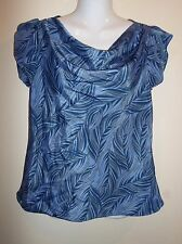 BANANA REPUBLIC Silky Drape Neck Blouse Womens Size PM