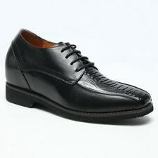 Elevator Shoes Men Business Dress Formal Leather Height Increasing Shoes 3.54''