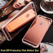 Luxury Ultra-thin TPU RoseGold Mirror Metal Case Cover for iPhone 6 Plus {zo672