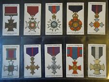 1927 WAR DECORATIONS & MEDALS winners military set 90 cards Tobacco Cigarette