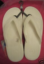 New Women CROCS RETRO WHITE ATHENS size 6 7 8 9 10 FLIP-FLOP Sandal men uni-sex