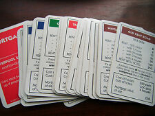 INDIVIDUAL MONOPOLY PROPERTY CARDS 1995 EDITION