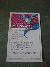 INDIVIDUAL POKEMON MONOPOLY PROPERTY CARDS 2000 EDITION