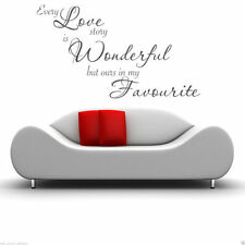 EVERY LOVE STORY Wall Art Sticker Bedroom Quote Decal Mural Transfer Sticker