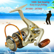 10 BB Left/Right Interchangeable Collapsible Handle Boat Fishing Spinning Reel