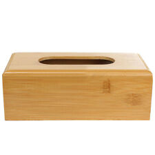 LEATHER WOODEN TISSUE BOX HOLDER HOME HOTEL OFFICE CAR TISSUE BOX COVER