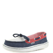Womens Hey Dude Print Navy Multi Slip On Loafer Shoes  Size