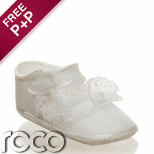 Baby Girls Ivory Soft Sole Shoes Girls Christening Shoes Flower Girl Shoes