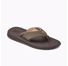 MEN'S GUYS REEF ROVER BROWN BEACH SANDALS FLIP FLOPS BRAND NEW $50
