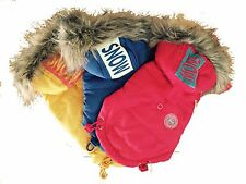"Puppia Designer Dog ""Snow Patrol"" Puffer Coat with Faux Fur Hood"