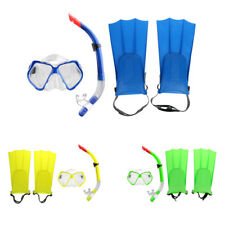 Professional Snorkeling Diving Gear Scuba Mask Snorkel Fins / Flippers Set