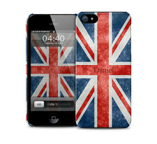 Personalised Red White Blue Union Jack Flag (GB)  Glossy protective phone case.