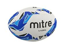NEW Mitre Sabre Sizes 3 4 5 Training Rugby Ball White Blue All Surface Cheap