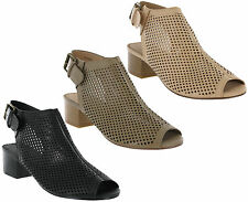 Savannah Sandals Buckle Cut Out Slingback Heeled Fashion Womens Shoes UK 3-8