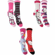 Hello Kitty Childrens Girls Ankle Socks (2 Pairs)
