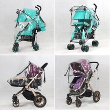 Cute Kids Baby Rain Cover Wind Shield Buggy Pram Clear Cover Pushchair Protector