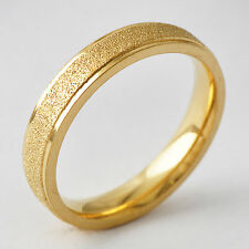 Vintage Classic stainless steel Band Promise Love Band Ring Size 8-11