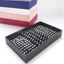 NEW Ring Earring Holder Jewelry Case 100 Slot Organizer Display Box Storage