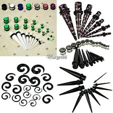 New 23 Pcs Ear Taper+ PLUG Kit 14G-00G 1.6mm-10mm Gauges Expander Set UTAR