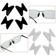 2 Pairs Anti-Slip Silicone Nose Pads for Eyeglass Sunglass Glasses Spectacles UK