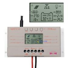 10A 20A 30A LCD MPPT Solar Panel Battery Regulator Charge Controller 12V/24V AD