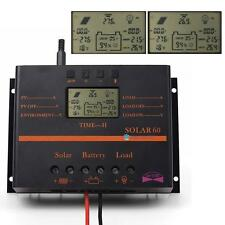 60A/80A 12V/24V LCD Solar Battery Regulator Charge Discharge Controller & USB AD