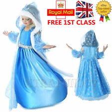 For Frozen Princess Elsa Dressing Up Girls Fancy Dress Party Costume Outfit Gift