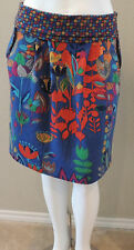 Funky People Artsy Boho Floral Stretch Knit Skirt - Plus 14/16 & 18/20 - New!
