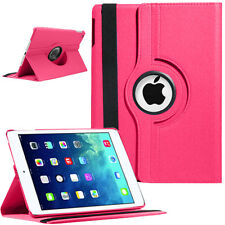 PINK iPad Air 1 2 Mini 2 3 Pro 9.7 Case Shockproof Smart Leather Rotating Stand