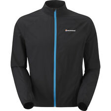 Montane Featherlite Trail Mens Jacket Windproof - Black All Sizes