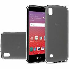 For LG X Power Case, Slim Skin TPU Cover [Stylus+Screen Protector + 2 Chargers]