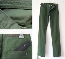 NWT MARC BY MARC JACOBS MEN'S FORREST GREEN COTTON SLIM SKINNY JEANS Sz-30, 32