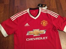 Manchester United adidas shirt home jersey red size S,M,L,XL NEW 2016