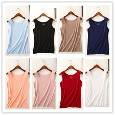 Womens New Plain Sleeveless Ladies Stretch Long Strappy Camisole Vest Tank Top