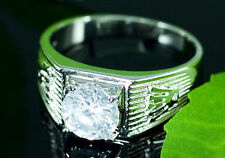 Cubic Zirconia Stud 18K White Gold Plated Ring MR122
